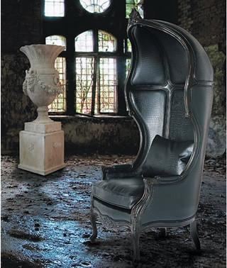 Glamour black leather boy throne - 20 Totally Extravagant Fantasy Home Furniture Pieces