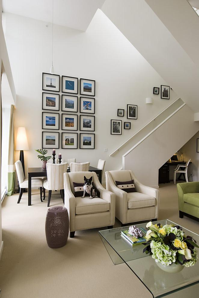 Gorgeous home interior design in black and white - How the Dogs fit in our Home