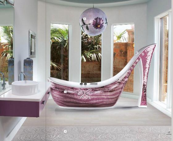 Icons mosaic shoe bathtub for women - 20 Totally Extravagant Fantasy Home Furniture Pieces