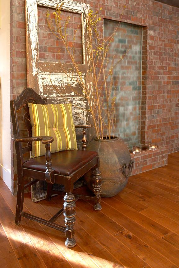 Loft interior design with an antique chair - inspiring furniture ideas for our homes