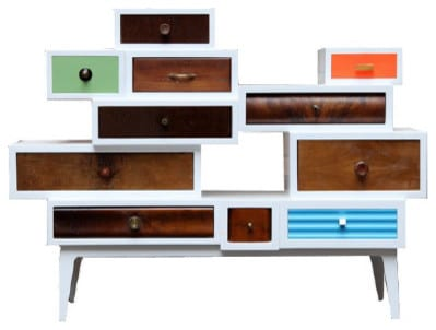 Mid-century modern commode in retro colors - 20 Totally Extravagant Fantasy Home Furniture Pieces