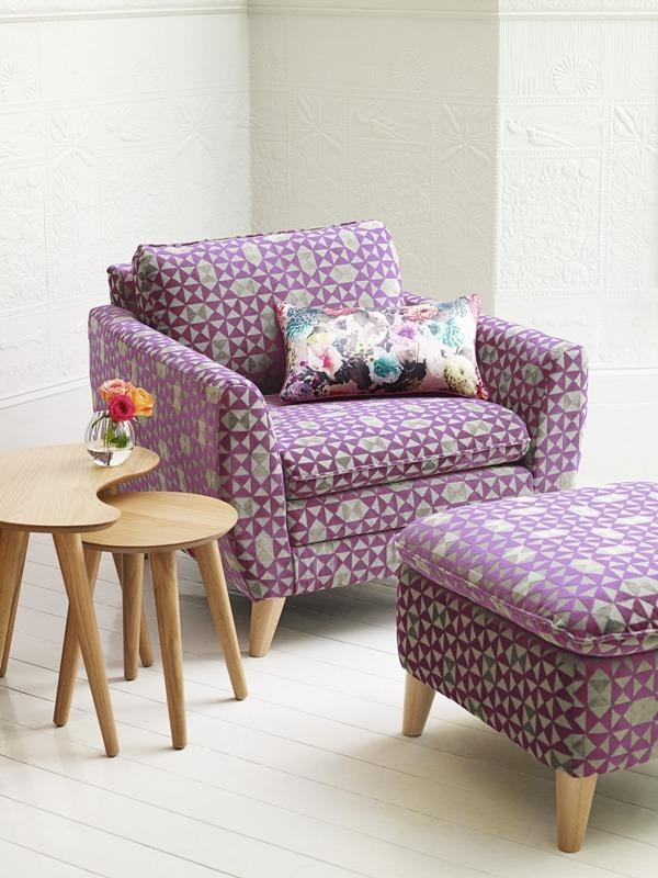 Purple chair in geometrical shapes - Trends in Colors for Autumn/Winter 2013