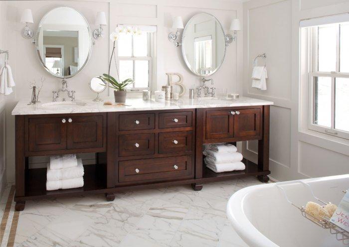 Rustic brown vanity - Bathroom Remodeling Ideas
