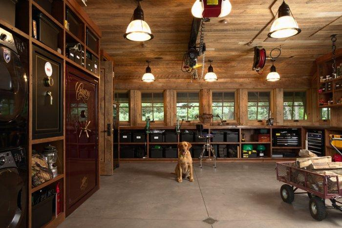 Rustic ground floor room with a dog in it - How the Dogs fit in our Home Interior Design