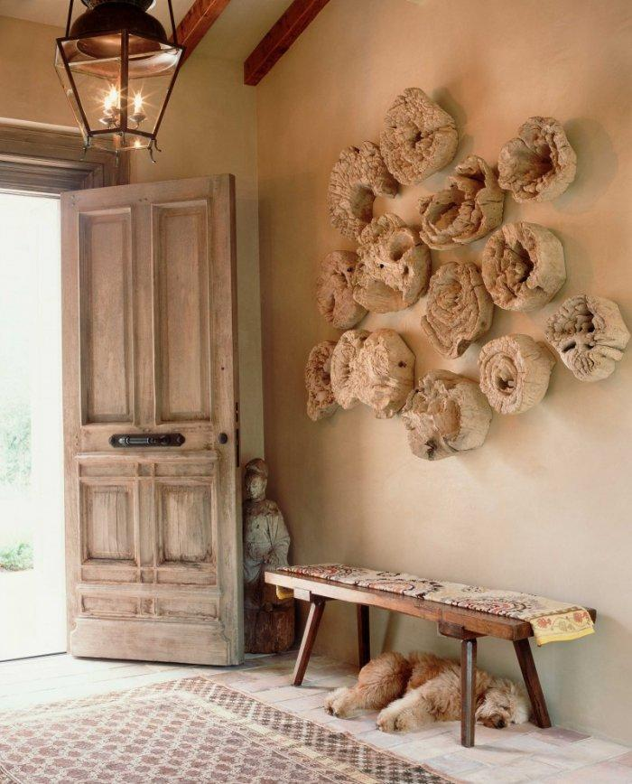 Rustic house interior design with a sleeping dog - How the Dogs fit in our Home