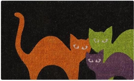 Scaredy Cats Doormat - 25 Sweet and Ghoulish Halloween Decor Ideas and Items