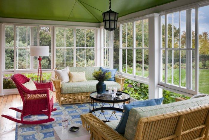 Sunny interior in a house surrounded by nature - The Best Homes for 2013