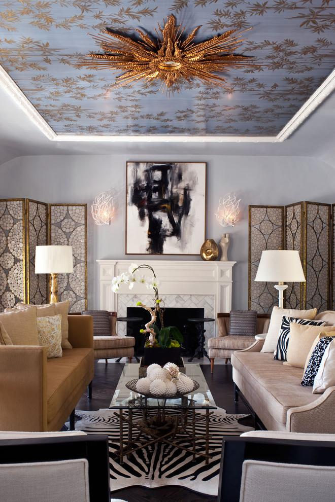 Symmetrical living room in classic style - 8 Residential Interior Design Inspiring Examples