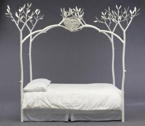 Unique white tree bed - 20 Totally Extravagant Fantasy Home Furniture Pieces