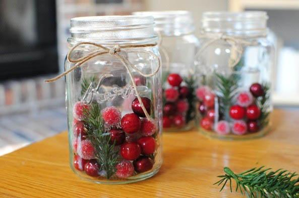 Affordable DIYChristmas candleholders-30 Easy and Simple DIY Christmas Decoration Ideas