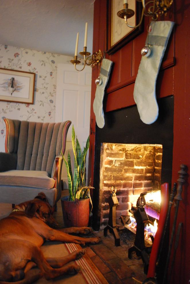 Silver stockings above a fireplace - 10 Simple and Elegant Christmas Decorating Ideas