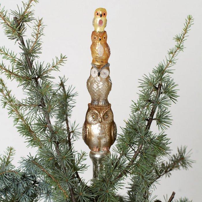 Glass Owl Tree Topper
