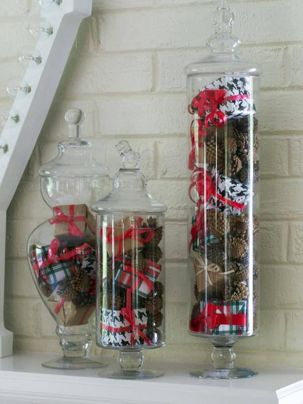 Holiday Apothecary Jars - Stylish Home Decoration Ideas in opposite colors
