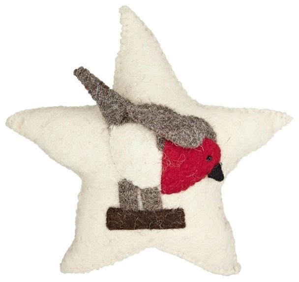 Scandi-Chic Robin - Christmas tree decorating ideas