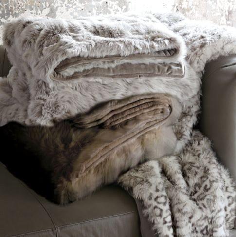 Scandinavian fur blankets - Lovely Decorating Ideas with Scandinavian Touch