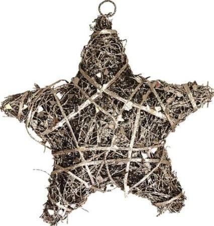 Silver Glitter Rattan - Christmas tree decorating ideas