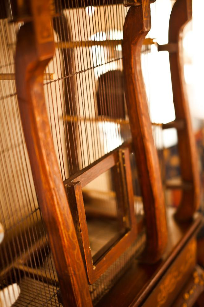 Antique bird cage - Mansion in California in Italian Style