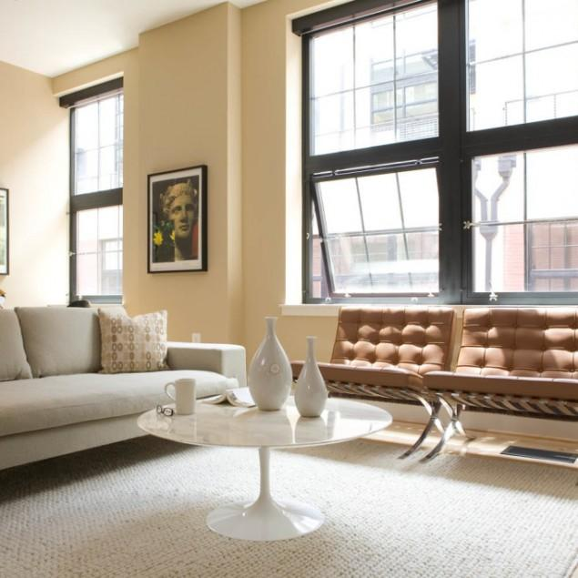 A modern chair by Mies Van Der Rohe