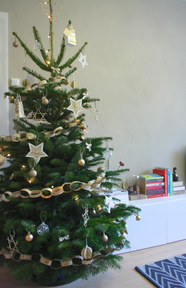 Beautiful Christmas tree and Lovely Hand-crafted Paper Decorations