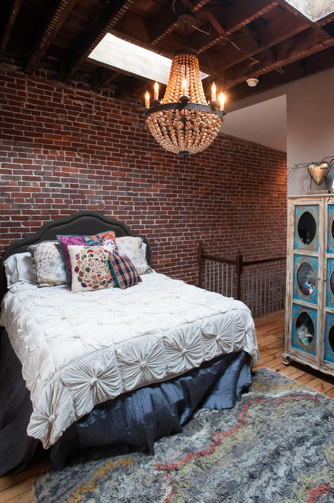 Beautiful eclectic bedroom interior design - Magical Couple Home in Pittsburgh, USA
