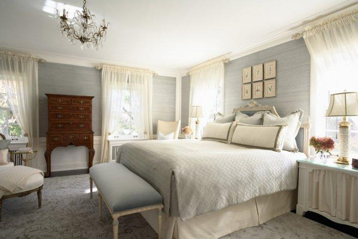 Cozy luxury classic bedroom in neutral nuances - Stunning Family Mansion in Minnesota