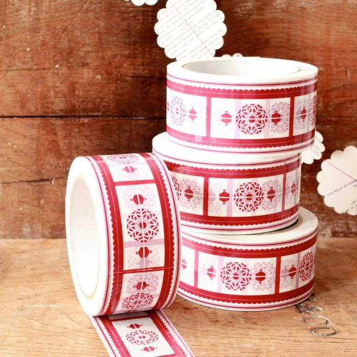 Decorative Christmas holiday tape - Lovely Decorating Ideas with Scandinavian Touch