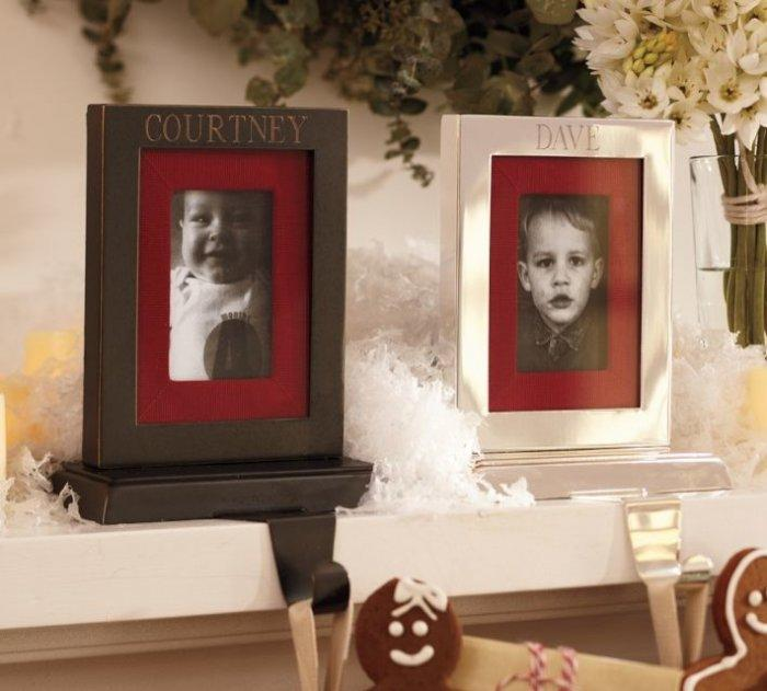 Engravable Frame Stocking Holder-20 Christmas Stockings Ideas that Cheer Up the Interior