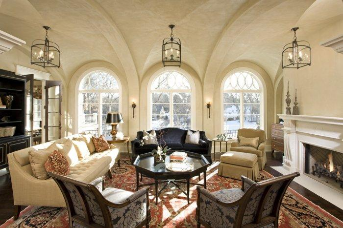 Fascinating luxurious living room in mellow nuances - Splendid High-End Mansion in Minnesota, USA