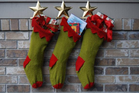 Knit Christmas Stocking by Loops and Lines-20 Christmas Stockings Ideas that Cheer Up the Interior