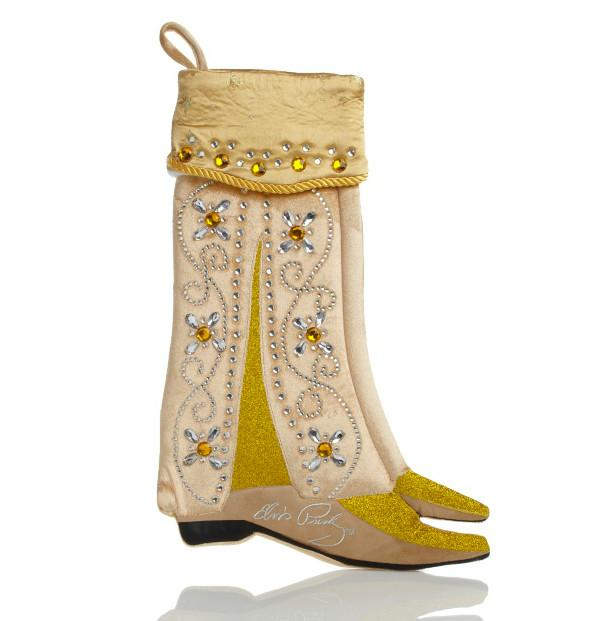 Kurt Adler Elvis Gold Boots Stocking-20 Christmas Stockings Ideas that Cheer Up the Interior