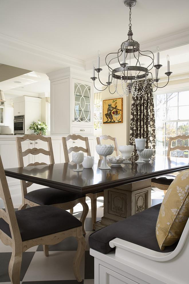 Luxury classic brown wooden dinner table and chairs - Stunning Family Mansion in Minnesota