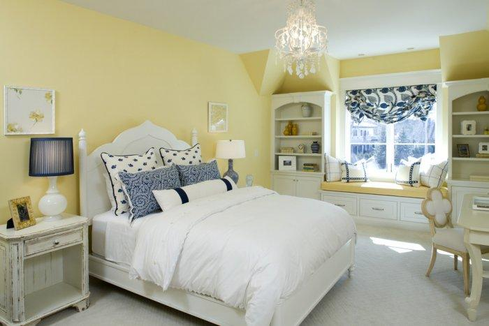 Luxury teenage girl bedroom in pale mellow colors - Splendid High-End Mansion in Minnesota, USA