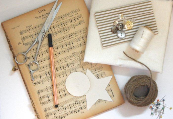 Old vintage sheets of music paper - Lovely Hand-crafted Paper Decorations