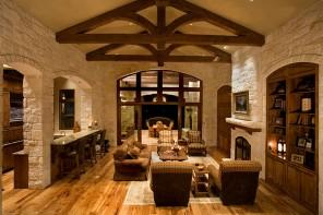 Outstanding rustic interior design projects in images
