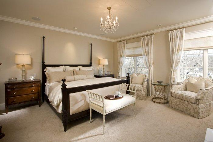 Spacious sunny bedroom with solid dark bedframe - Splendid High-End Mansion in Minnesota, USA