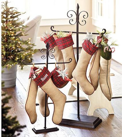 Tabletop Stocking Holder-20 Christmas Stockings Ideas that Cheer Up the Interior