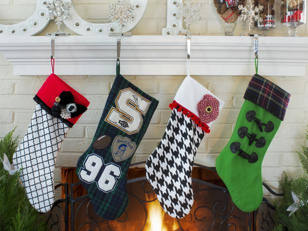 Unique and creative patterned Christmas stockings - Stylish Home Decoration Ideas in opposite colors