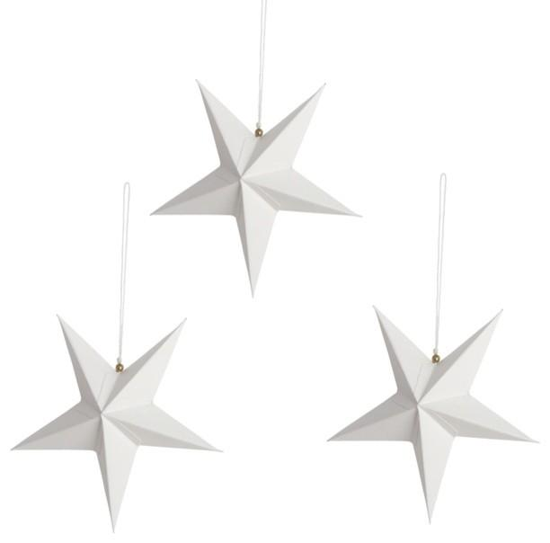 White Christmas star paper decorations - Lovely Decorating Ideas with Scandinavian Touch