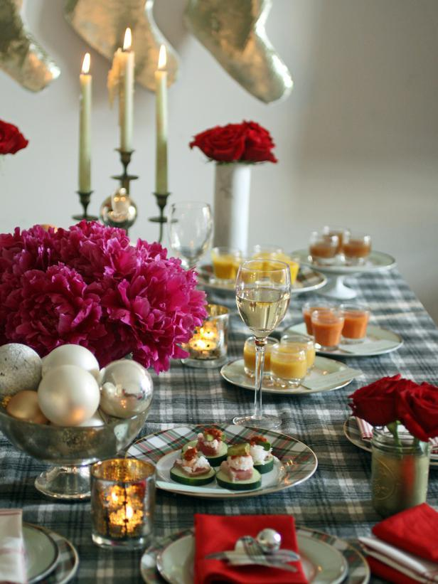 Christmas table decoration ideas for a casual evening