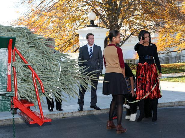 Michele Obama approves the Christmas tree - Holiday Ideas from America's First Home