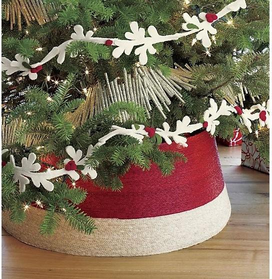 Navidad Tree Collar-20 Fantastic Cheerful Ideas for Christmas Tree Skirts