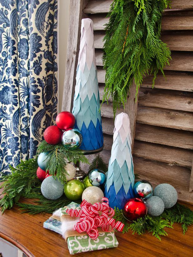 Ombre Tabletop Trees -36 Eye-Catching Ideas for a Holiday Table