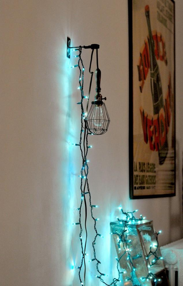 Using String Lights As A Casual Christmas Decoration