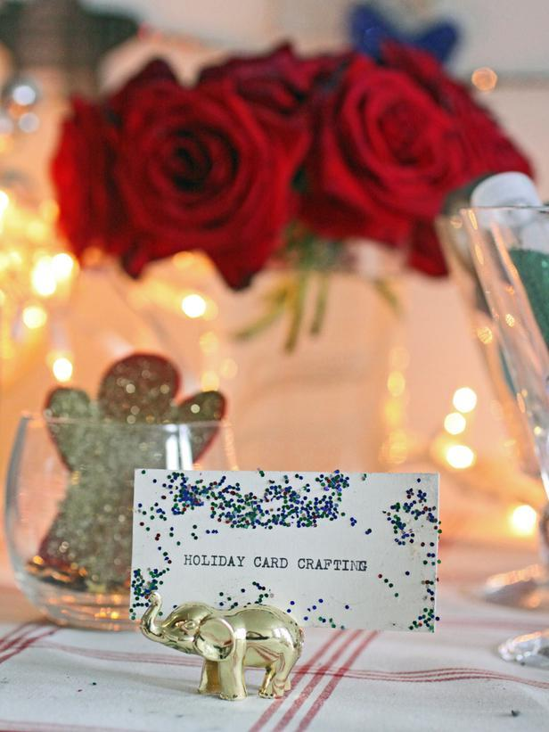 Holiday card crafting note - Christmas Table Decoration Ideas
