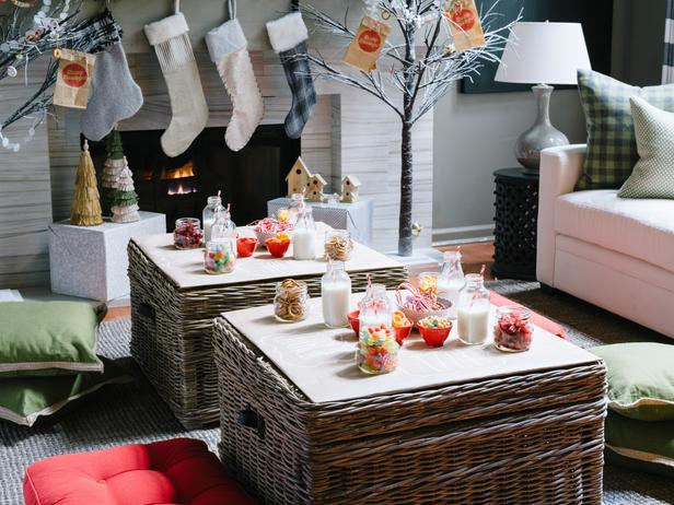 Hanged stockings at a fireplace - How to Set Up a Kids\u0027 Christmas Table for & How to Set Up a Kids\u0027 Christmas Table for Fun? | Founterior