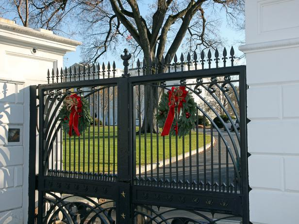 The main gated of the White House- Holiday Ideas from America's First Home