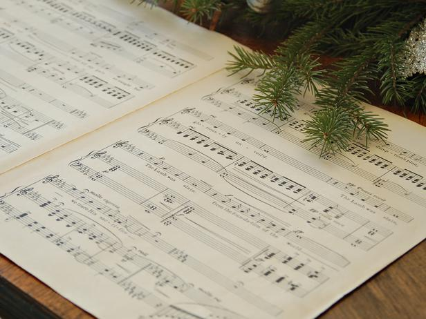 Vintage music paper sheet - Add an elegant Touch to Your Holiday Decorations