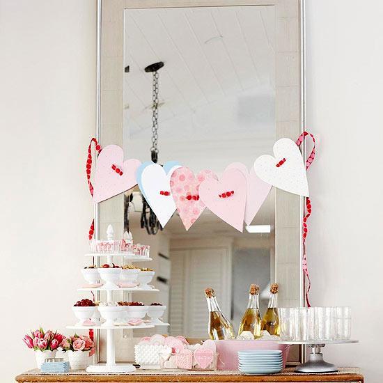 Beribboned Hearts Garland - Easy DIY Handcrafted Valentine's Day Decor
