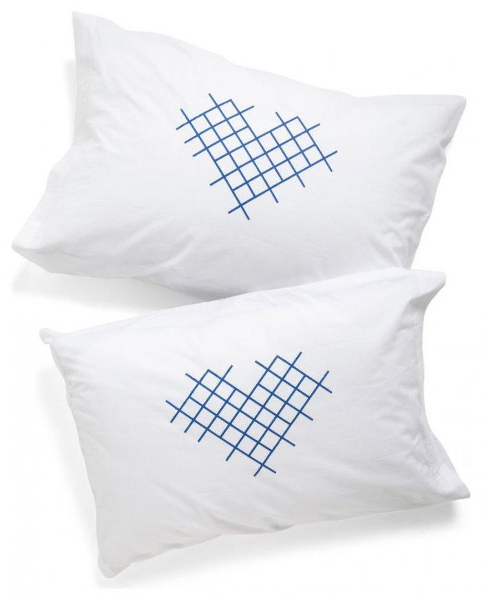 Cross-Stitch My Heart Pillowcases-Love home decor for February 14th