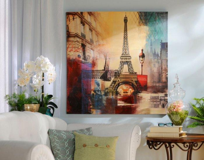 Eiffel Tower City Canvas Print -Valentine's Day Items & Ideas for Themed Decoration